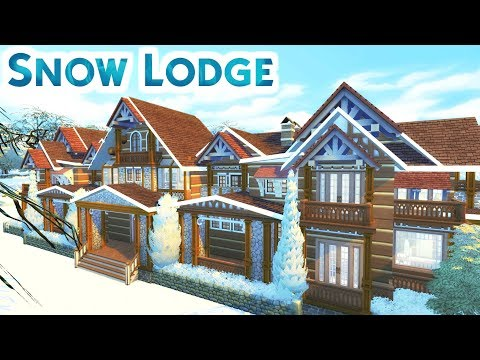 SNOW LODGE w/ KrystinMyrieXo   Sims 4 Speed Build