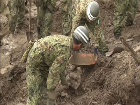 Raw: Hiroshima Landslide Rescue Work Continues