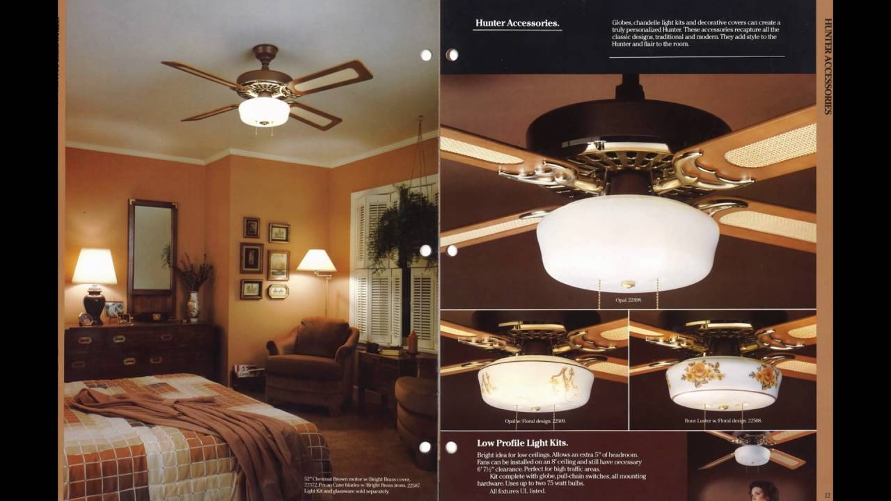 Hunter Ceiling Fan Catalog From 1982 Youtube
