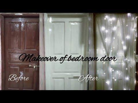 Simple DIY  Bedroom Door Makeover / Door Makeover (DIY wood door