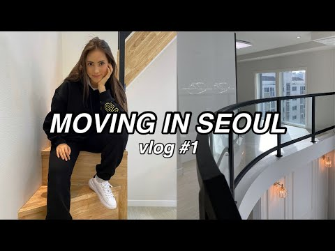 MOVING VLOG #1: Moving in Seoul, Apartment Hunting, Packing,