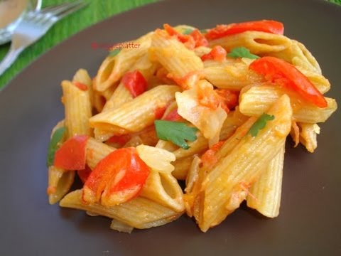 Capsicum And Cheese Pasta