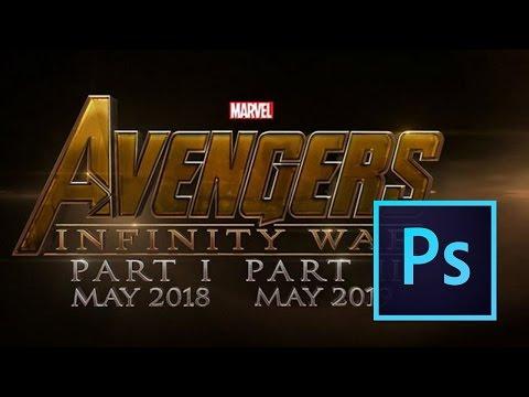 Avengers Infinity War Teaser Poster Tutorial