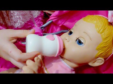 Говорящая кукла Настя Хочет Кушать и Яна КАК Мама И Видео для девочек