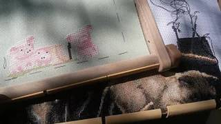 Вышивка крестом. Как я натягиваю канву на раму. И почему?)))(, 2016-05-14T17:53:53.000Z)