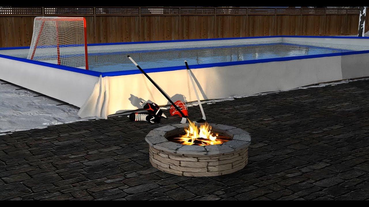 Iron Sleek Backyard Ice Rink Kits - YouTube