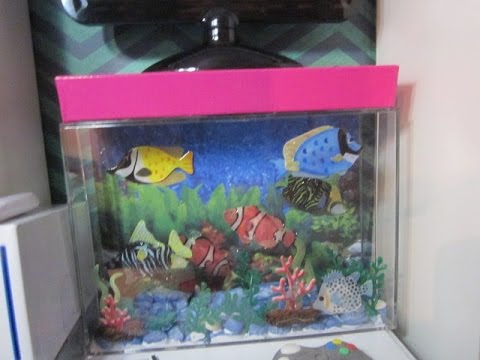 how to make an easy aquarium for your ag dollhouse youtube. Black Bedroom Furniture Sets. Home Design Ideas