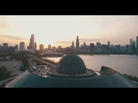 Chicago: Northerly Island Sunset by Drone