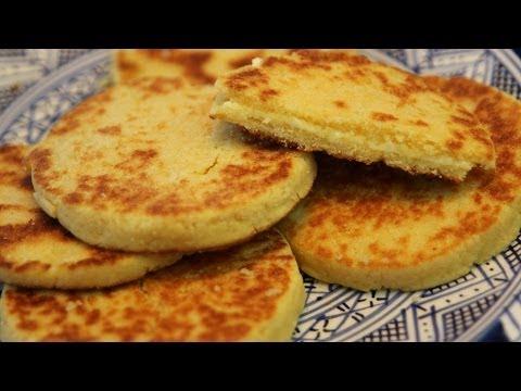 Harcha - Moroccan Semolina Bread Recipe - CookingWithAlia - Episode 310