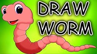 Draw Worm | Easy to Follow | Creative Art Work | ALF Kids Station