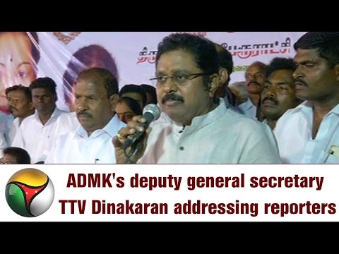 ADMK's deputy general secretary TTV Dinakaran addressing reporters' queries in Chennai