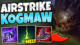 THE LONGEST POKE IN THE GAME! SKY BOMBER KOG'MAW MID IS CRAZY! - League of Legends