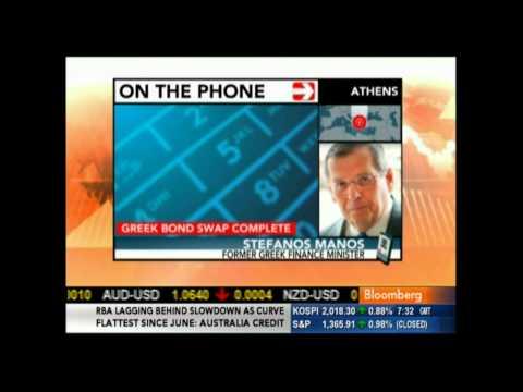 Bloomberg TV: Greek debt swap completed, Stefanos Manos' view