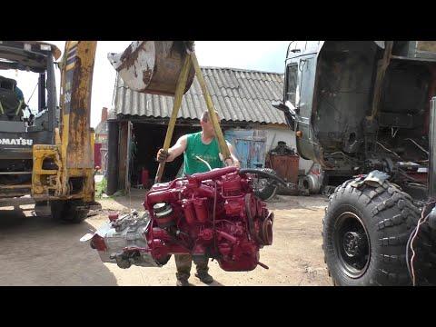 Установка дизельного двигателя FIAT 5.9 л на ГАЗ 66( ШИШИГУ) от автомобиля ИВЕКО ЕВРОКАРГО
