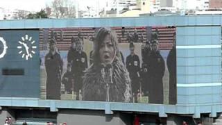 石田ミホコ 日本国国歌斉唱
