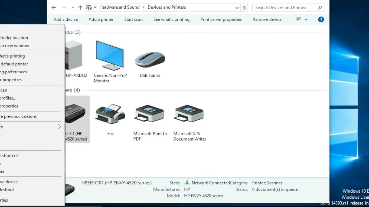 Hp Envy 4520 Printer Setup Youtube