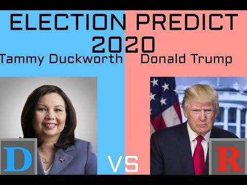 2020 Election Prediction | Tammy Duckworth vs Donald Trump