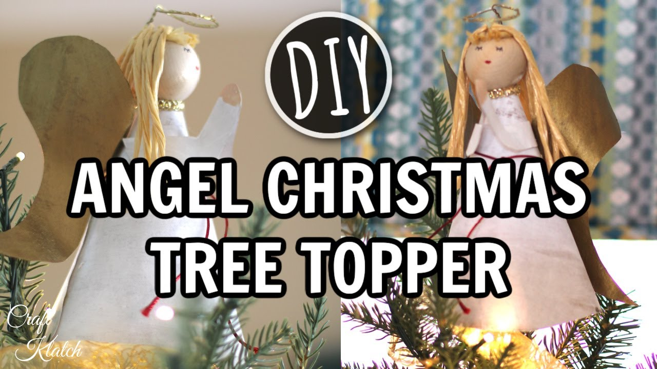 Angel tree topper out of recycled materials craft tutorial Christmas tree ideas using recycled materials