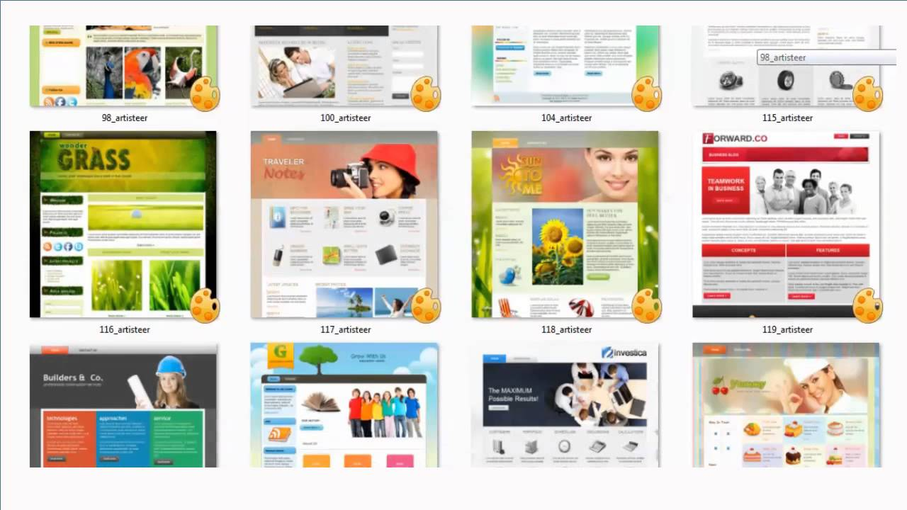 107 Artiesteer Templates Pack FREE download - YouTube