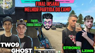 FINAL EMULADOR CAMP 2X2 DO ALOK! LZINN E STRONG VS TWO9 E GHOST! CAMPEONATO DO ALOK FINAL!