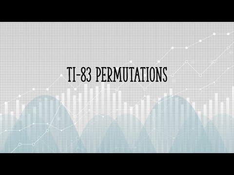 Permutations on the TI 83
