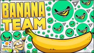 AGARIO BANANA TEAM! THE BRAND NEW ULTRA ELITE AGARIO TEAM LMAO (NEW SKINS!!) (Agar.io App #104)