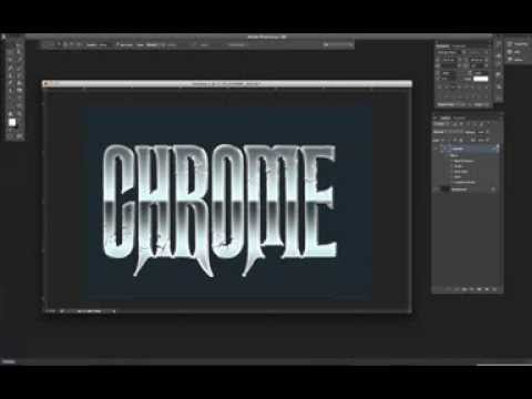 Chrome photoshop tutorial gallery graphic design tutorials free.