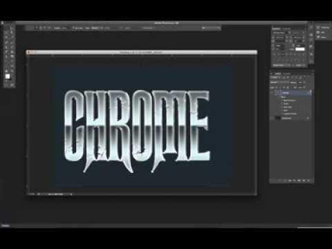 Easy Chrome Effect on Text Photoshop Tutorial - YouTube