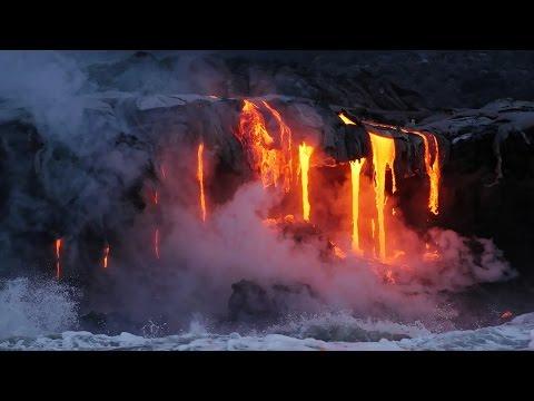 Kilauea: ocean entry of lava flow 61g