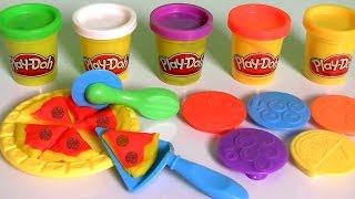 Vamos Fazer Pizza com Massinhas Play-Doh Pizza pra Almoço TOYSBR | Play Doh Lunchtime Creations