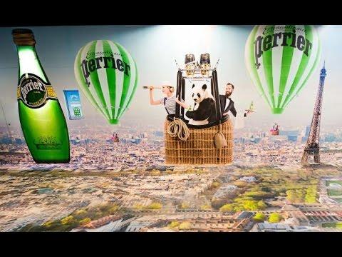 Perrier hot air balloon ride to Paris at Shanghai metro | STDecaux