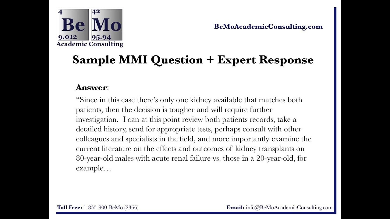 Sample MMI Questions & Answers: MMI Interview Practice ...