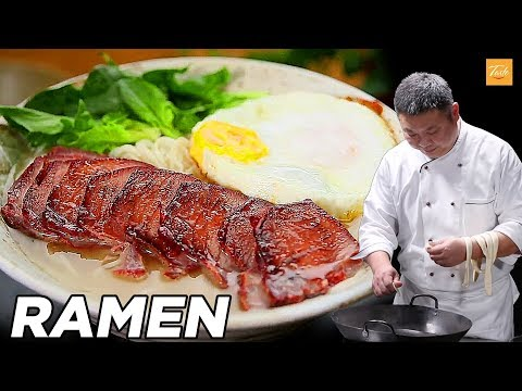 How to Make Ramen with Char Siu Pork and Chicken Noodle Soup