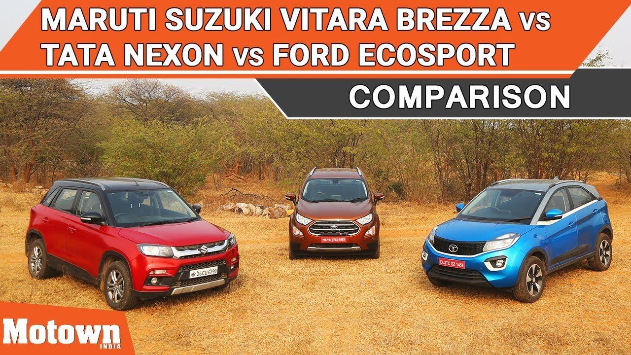 Image Result For Ford Ecosport Vs Brezza
