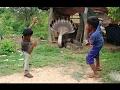 (実生活)うわー!!素晴らしい3人の子供が家で2人の大きな蛇を捕まえるnull