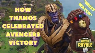 WHEN THANOS CLICKS HIS FINGERS ON FORTNITE (THANOS FORTNITE DANCE EMOTE) *MUST WATCH*