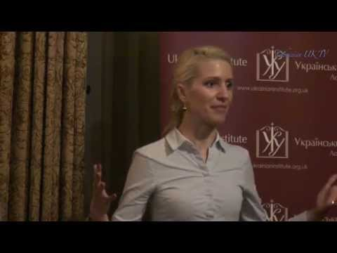 Svitlana Zalishchuk at Ukrainian Institute, London 11-11-2014.