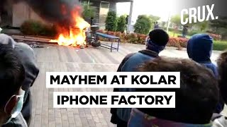 Angry IPhone Factory Employees In Karnataka's Kolar Destroy Equipment Over Unpaid Salaries| CRUX