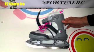 Обзор раздвижных коньков K2 Charm Ice / Review ice skates K2 Charm Ice
