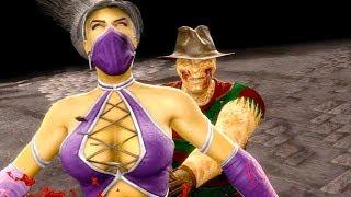Mortal Kombat 9 - All Fatalities & X-Rays on Kitana Purple Costume Mod 4K Ultra HD Gameplay Mods