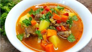 Простой Суп из Говядины с Овощами. Пальчики оближешь!