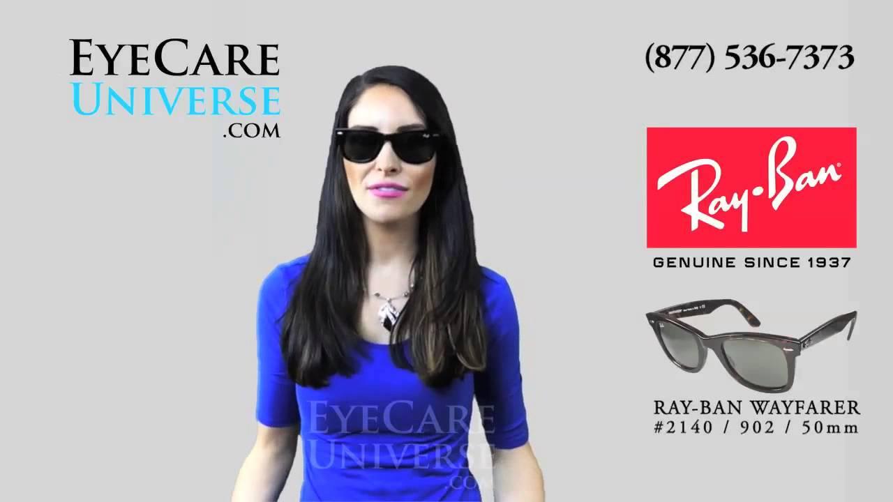 2c23eaf837582 Ray Ban Wayfarer Sunglasses RB2140 902 50mm Review - YouTube