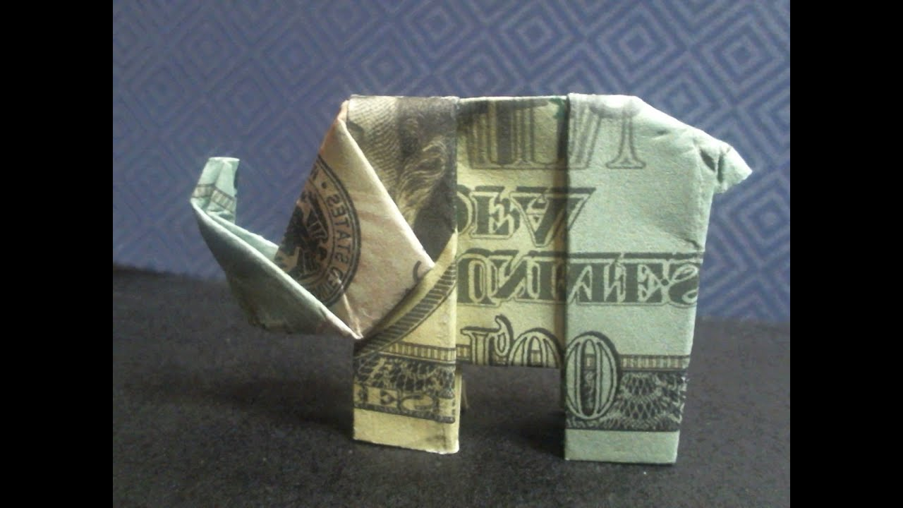 Very Easy To Make Origami Elephant Youtube