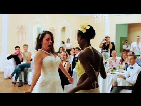 Африканские танцы - Мастер-класс на свадьбе! - Моника Мендес и ее афро-шоу