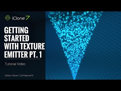 iClone 7 Tutorial - PopcornFX Super Tools: Getting Started with Texture Emitter Part 1