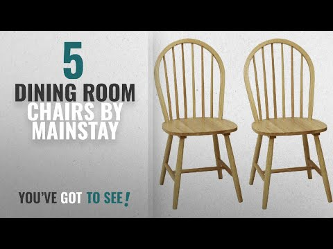 Top 10 Mainstay Dining Room Chairs [2018]: Windsor Chair in Natural, Set of Two