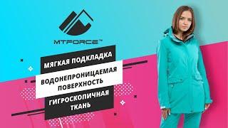 Новая весення коллекция спортивных костюмов женских оптом из ткани softshell 018125 от MTFORCE