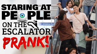 Staring At People On The Escalator Prank | Philippines