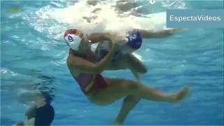 Women's Waterpolo Dirty play   HD What happens underwater !!!