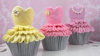 バレリーナカップケーキ―カップケーキ中毒のチュートリアル チャンネル...